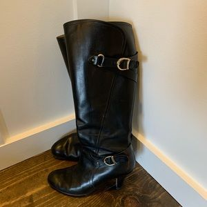 Anyi Lu tall leather boots size 37 (Women's 7)